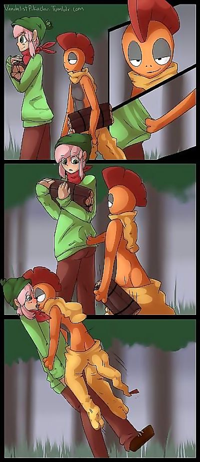 Pokemon- Gathering Firewood